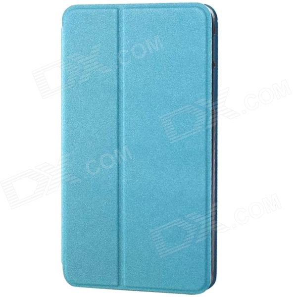 Protective PU Leather Flip Open Case w/ Stand for Samsung Galaxy Tab S 8.4 T700 - Sky Blue universal protective flip open suction cup pu leather case cover w stand for tablet pc blue