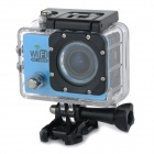 "Water Resistant FPV HD 2.0"" LTPS CCD Wide Angle Sports DV Camera w/ Wi-Fi - Blue + Black"
