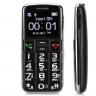 "S788 GSM Bar Phone w/ 1.8"" Screen, Quad-Band, FM, SOS, Flashlight for Elderly - Black"