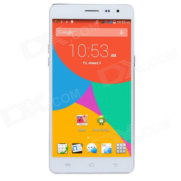 Uhappy UP550 MTK6582 Quad-Core Android 4.4 WCDMA Bar Phone w/ 5.5 HD, 1GB RAM, 16GB ROM - White