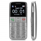 "S788 GSM Bar Phone w/ 1.8"" Screen, Quad-Band, FM, SOS, Flashlight for Elderly - Silver"