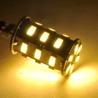 G4 5W 300lm 3500K 24-SMD 5730 LED Warm White Light Lamp - White + Silvery Grey (DC 12V)