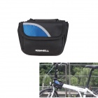ROSWHEEL Durable 600D Polyester Top Tube Bag for Bicycle - Black + Blue