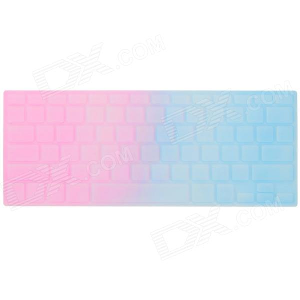 Ultra-thin Protective Plastic Sticker for 13'' / 15'' MACBOOK PRO Keyboard - Pink + Blue