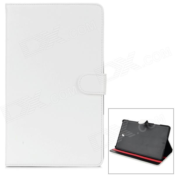 Flip Open PU Leather Case w/ Stand for 8.4'' Samsung Tab S T700 - White
