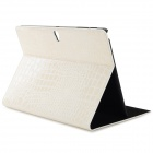Alligator Pattern Flip Open PU Leather Case w/ Stand for 10.5'' Samsung Galaxy Tab S T800 - White