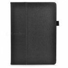 Stylish Flip Open PU Leather Case w/ Stand for Samsung Galaxy Tab S 10.5 T800 - Black