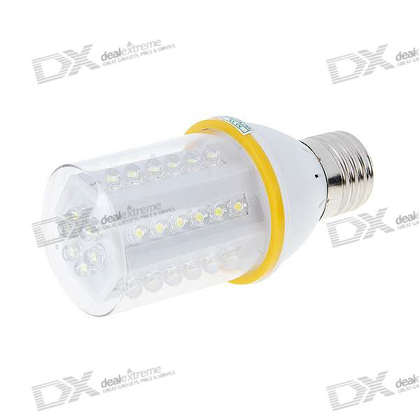 E27 2.6W 42-LED White Light Energy Saving Light Bulb (220V AC)E27<br>MaterialPCForm  ColorWhiteQuantity1 DX.PCM.Model.AttributeModel.UnitPower6WRated VoltageAC 220 DX.PCM.Model.AttributeModel.UnitConnector TypeE27Emitter TypeLEDTotal Emitters42Color BINWhiteActual Lumens- DX.PCM.Model.AttributeModel.UnitColor Temperature6500KDimmableNoPacking List1 x Light Bulb<br>