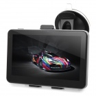 "916F 5"" Resistive Screen Win CE 6.0 Car GPS Navigator w/ Multinational Map - Black"