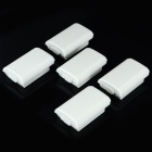 Replacement Battery Case Cover for XBOX 360 / XBOX 360 Slim Wireless Controller - White (5 PCS)