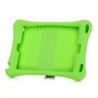 Anti-Shock Protective Silicone Back Case w/ Stand for IPAD AIR - Light Green