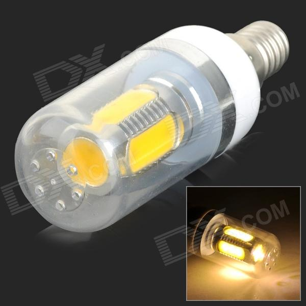 UItraFire E14 9W 180lm 3500K 5-COB LED Warm White Light Corn Lamp - White (AC 85~265V)