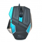 R.horse FC-1880 USB 2.0 Wired Colorful Light LED Gaming Mouse - Black + Blue