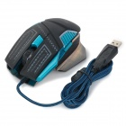 R.horse FC-1880 USB 2.0 filaire Colorful LED Gaming Mouse-Noir + Bleu