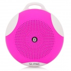 SLANG Round 3W Bluetooth V3.0 Multifunctional Speaker w/ Microphone / TF - Deep Pink