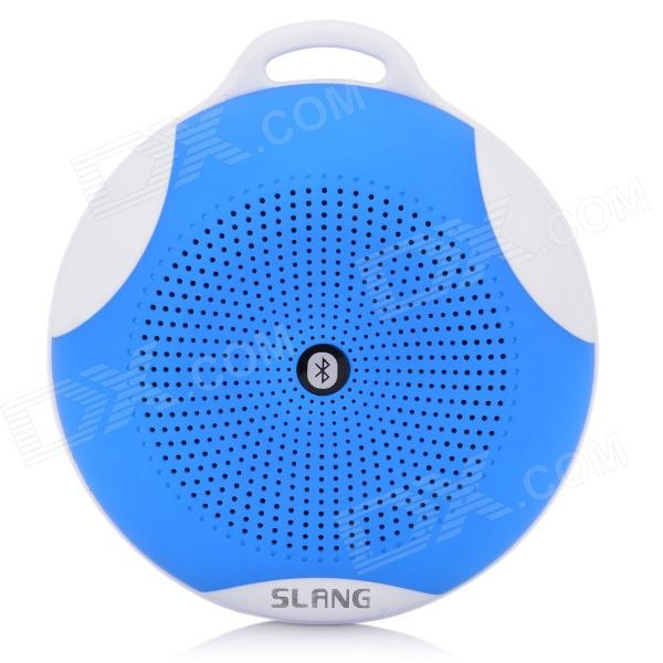 SLANG Round 3W Bluetooth V3.0 Multifunctional Speaker w/ Microphone, TF - Blue s08 portable 3w bluetooth v3 0 speaker w micro sd tf fm microphone black