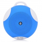 SLANG Round 3W Bluetooth V3.0 Multifunctional Speaker w/ Microphone, TF - Blue
