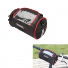 ROSWHEEL 11887 Bike Bicycle Polyester + PVC Handlebar Bag / Shoulder Bag - Black + Red