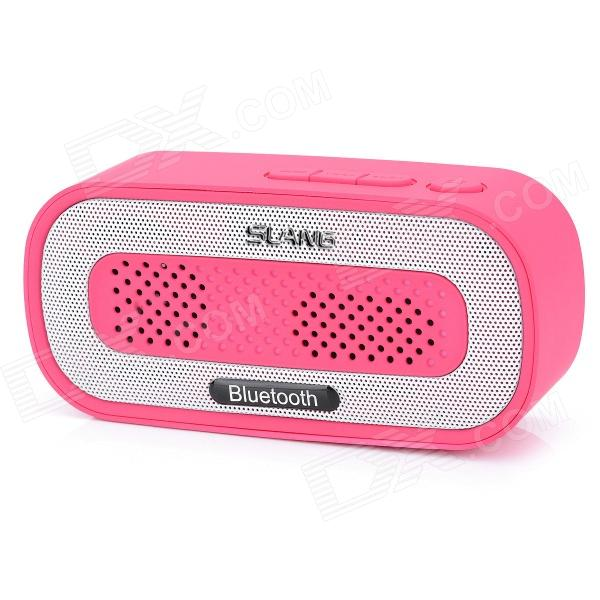 SLANG 3W Bluetooth V3.0 Multifunctional Speaker w/ FM / Microphone / TF - Deep Pink s08 portable 3w bluetooth v3 0 speaker w micro sd tf fm microphone black
