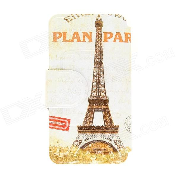 Kinston Eiffel Tower Pattern Protective PU Leather Flip Open Case w/ Stand for 5.0 HTC Desire 816