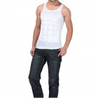 NEJE Men's Body Belly Waist Girdle Slimming Tummy Shaper Vest - White (L)