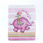 Baby Elephant Pattern Stylish PU Leather Flip Open Case w/ Stand for IPAD 2 / THE NEW IPAD / IPAD 4