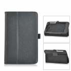 Lichee Pattern Flip-Open PU Leather Case w/ Stand for Asus Memo Pad HD 7 ME175KG - Black
