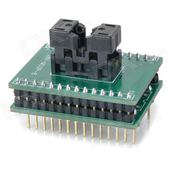цена MSOP8 to DIP8 Programmer Test Socket - Green + Black