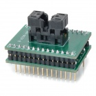 MSOP8 to DIP8 Programmer Test Socket - Green + Black