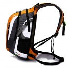 LOCAL LION Outdoor Sports Water Resistant Nylon Backpack - Black + Grey + Orange (18L)