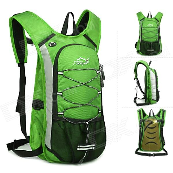 Local Lion 479A Outdoor Cycling Polyamide Backpack - Light Green (45L) local lion 475 multi functional outdoor travel water resistant polyester bucket bag blue 45l
