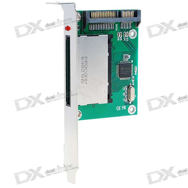 Compact Flash CF to SATA Adapter Card with Bracket laptop pcmcia compact flash cf card reader adapter