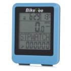 "BIKEVEE BKV-9100H Multi-Functional 1.7"" Screen Wireless Bike Computer w/ Heart Rate Function - Blue"
