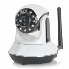 "IP-S219 1/4"" CMOS 720P P2P PT IP Camera w/ 11-IR-LED / Wi-Fi / IR-CUT / TF - White + Black (US Plug)"