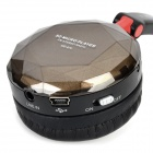 Disheng MD-870 sans fil Bandeau casque w / TF / FM / Mini USB - Noir + café
