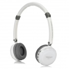 DiSheng MD-870 Wireless Headband Headphone w/ TF / FM / Mini USB - White + Light Grey