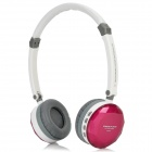 DiSheng MD-870 Wireless Headband Headphone w/ TF / FM / Mini USB - White + Purple