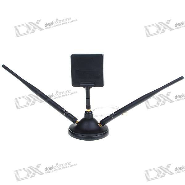 2.4GHz 9dBi High Gain SMA Omni + Directional Antenna Combo for WiFi/Wireless Network