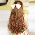 CH010-30 Cosplay Party Makeup Fashionable Long Curly Synthetic Hair Wig - Flaxen