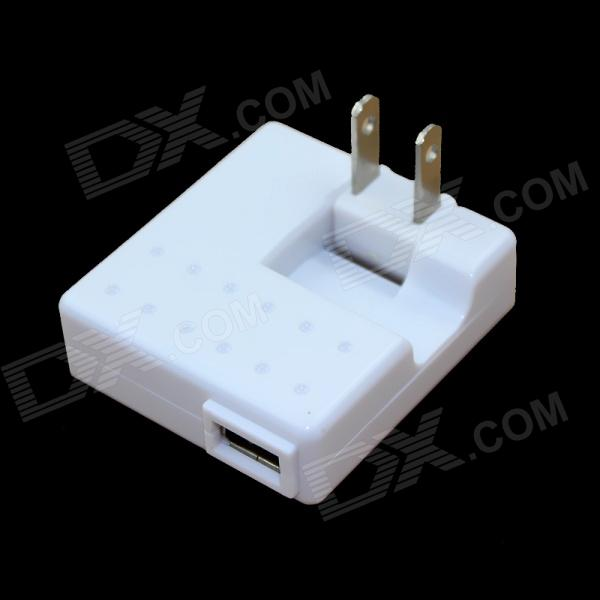 Folding US Plugs 5V 1000mA USB Travel Charger - White