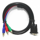 VGA Male to 3-RGB Male Shielded Cable (1.5M-Length)