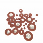 Replacement Alto Saxophone Leather Pads Set - Brown (26 pcs / 1 set)