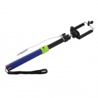 Universal 3.5mm Plug Self-Timer Monopod w/ Remote Controller for iOS and Android -  Blue + Green