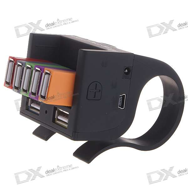 Clip-on Hi-Speed USB 2.0 7-Port Hub