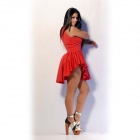 Naisten Sexy Flare Hem Pettiskirt Ball Dress-Red (M)