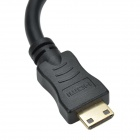 HDMI V1.4 Female to Mini HDMI Male Cable - Black (16.5cm)