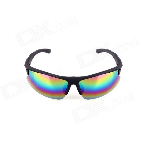 SYS0060 UV400 Blue REVO Lens Anti-Sand HD Sports Sunglasses Goggles for Cycling - Black topeak outdoor sports cycling photochromic sun glasses bicycle sunglasses mtb nxt lenses glasses eyewear goggles 3 colors