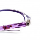 SYS0064 Children's Radiation Protection PC Myopia Glasses Frame - Transparent + Purple