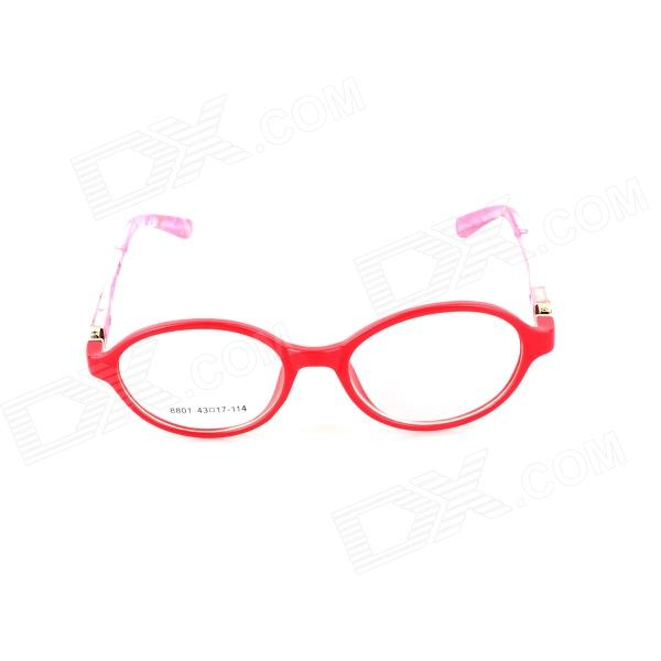 SYS0065 Children's Radiation Protection PC Myopia Glasses Frame - Red