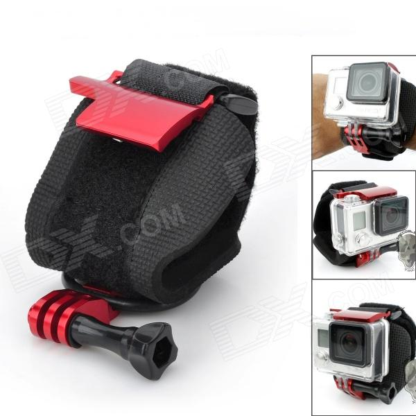 Sportguard Adjustable Wrist Mount Belt Rotate Strap w/ Screw for Gopro Hero 4/ 3+ / 3 / 2 / 1 / SJ4000 neopine arm bands wrist strap mount w hinge screw for gopro hero 4 3 3 2 1 black red